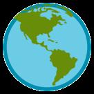 Earth Globe Americas htc emoji