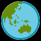 Earth Globe Asia-australia htc emoji