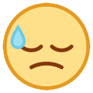 Face With Cold Sweat htc emoji