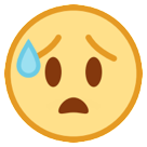 Face With Open Mouth And Cold Sweat htc emoji