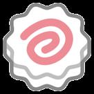 Fish Cake With Swirl Design htc emoji