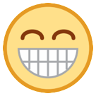 Grinning Face With Smiling Eyes htc emoji