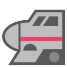 High-speed Train With Bullet Nose htc emoji