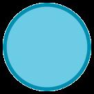 Large Blue Circle htc emoji