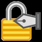 Lock With Ink Pen htc emoji