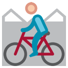Mountain Bicyclist htc emoji
