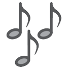 Multiple Musical Notes htc emoji