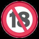 No One Under Eighteen Symbol htc emoji