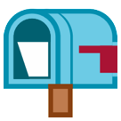 Open Mailbox With Lowered Flag htc emoji