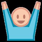 Person Raising Both Hands In Celebration htc emoji