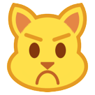 Pouting Cat Face htc emoji