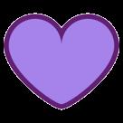 Purple Heart htc emoji