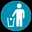 Put Litter In Its Place Symbol htc emoji
