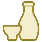 Sake Bottle And Cup htc emoji