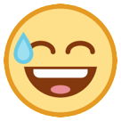 Smiling Face With Open Mouth And Cold Sweat htc emoji