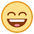 Smiling Face With Open Mouth And Smiling Eyes htc emoji