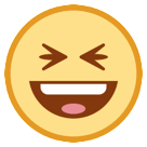 Smiling Face With Open Mouth And Tightly-closed Eyes htc emoji