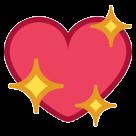 Sparkling Heart htc emoji