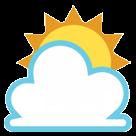 Sun Behind Cloud htc emoji