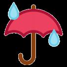 Umbrella With Rain Drops htc emoji