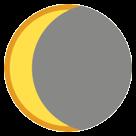 Waning Crescent Moon Symbol htc emoji