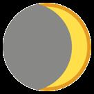 Waxing Crescent Moon Symbol htc emoji