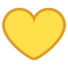 Yellow Heart htc emoji