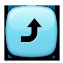 Arrow Pointing Rightwards Then Curving Upwards lg emoji