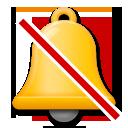 Bell With Cancellation Stroke lg emoji