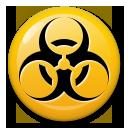 Biohazard Sign lg emoji