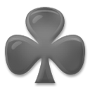 Black Club Suit lg emoji