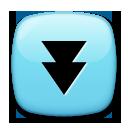 Black Down-pointing Double Triangle lg emoji