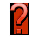 Black Question Mark Ornament lg emoji