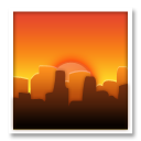 Cityscape At Dusk lg emoji