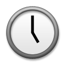 Clock Face Five Oclock lg emoji