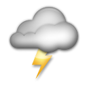 Cloud With Lightning lg emoji