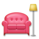 Couch And Lamp lg emoji