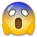Face Screaming In Fear lg emoji