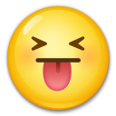 Face With Stuck-out Tongue And Tightly-closed Eyes lg emoji