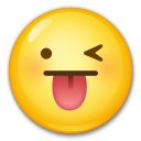 Face With Stuck-out Tongue And Winking Eye lg emoji