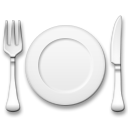 Fork And Knife With Plate lg emoji