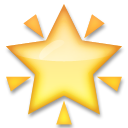 Glowing Star lg emoji