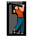 Golfer lg emoji