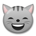 Grinning Cat Face With Smiling Eyes lg emoji