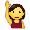 Happy Person Raising One Hand lg emoji