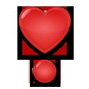 Heavy Heart Exclamation Mark Ornament lg emoji