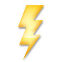 High Voltage Sign lg emoji