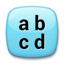 Input Symbol For Latin Small Letters lg emoji