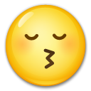 Kissing Face With Closed Eyes lg emoji