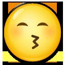 Kissing Face With Smiling Eyes lg emoji